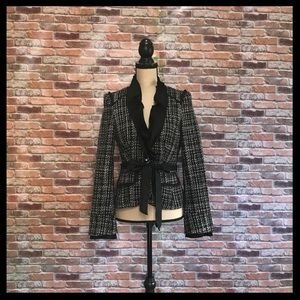 WHBM Tweed Ruffle Blazer